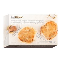 2 coquilles St-Jacques au Champagne